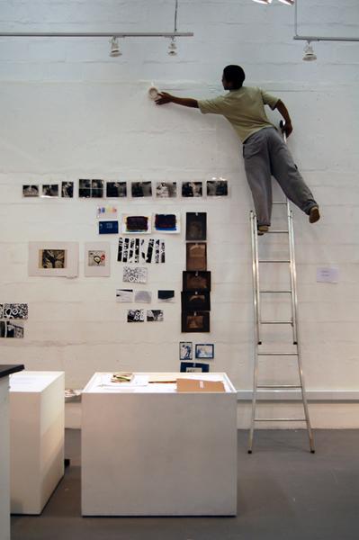 Tarsila - montagem da exposição